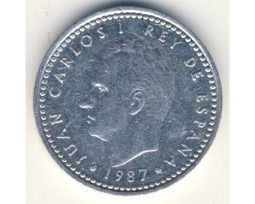 1 песета (1982–1989 г) Испания