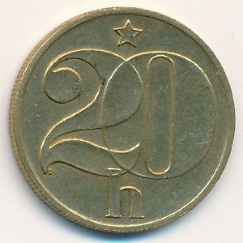 20 гелеров (1972–1990 г.) Чехословакия