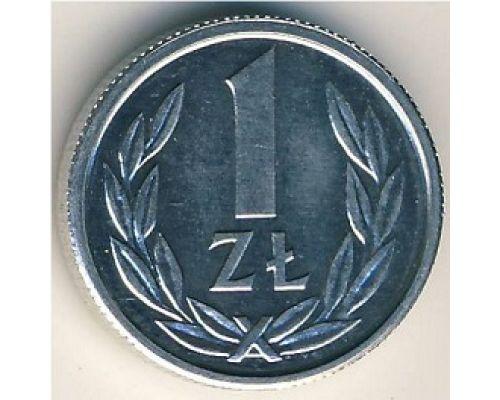 1 злотый 1989 год Польша