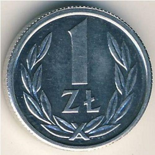 1 злотый 1989 год. Польша