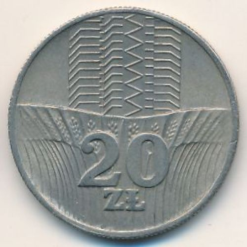 20 злотых 1976 год. Польша