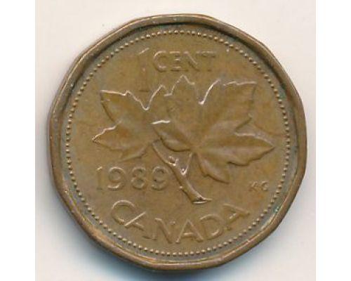 1 цент 1989 год Канада