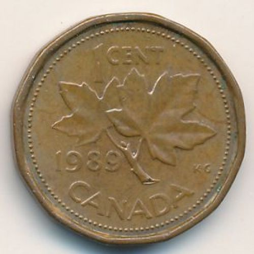 1 цент 1989 год. Канада