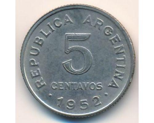 5 сентаво 1952 год Аргентина