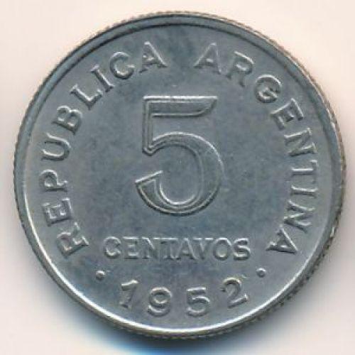 5 сентаво 1952 год. Аргентина
