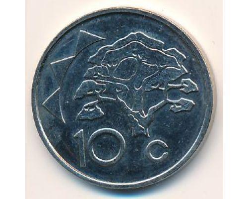 10 центов 1993-2002 год Намибия