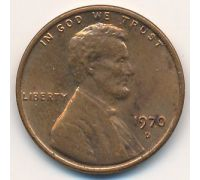 1 цент 1970 D года США Америка