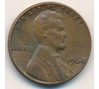 1 цент 1964 года США Америка