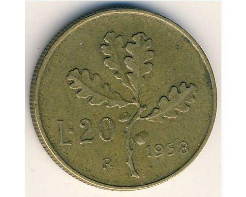 20 лир 1957-1987 года Италия