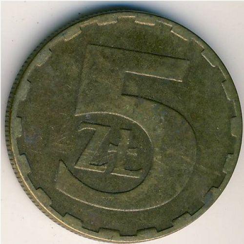 5 злотых (1975–1988 г.). Польша