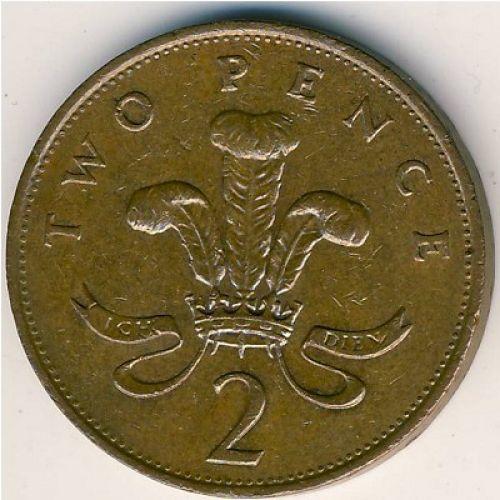 2 пенса (1985–1992 г.)  Великобритания