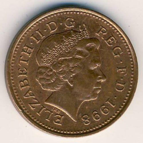1 пенни (1998–2008 г.) Великобритания