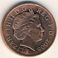 1 пенни (2008-2014 г) Великобритания