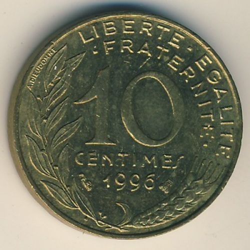 10 сентим (1962–2001 г.) Франция