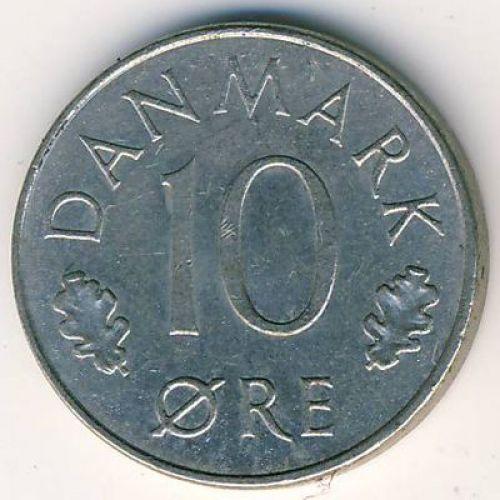 10 эре 1973-1978 года. Дания