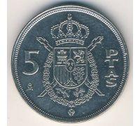 5 песет 1984 год Испания