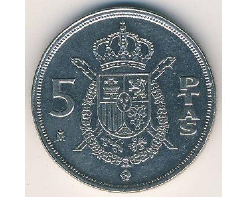 5 песет 1989 год Испания