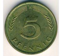 5 пфеннигов 1950-2001 год.  A Германия.