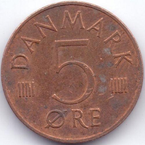 5 эре 1973-1986 года. Дания