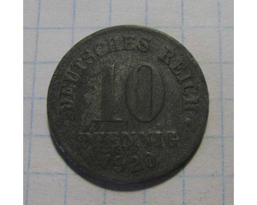 10 пфеннигов 1920 год. Германия