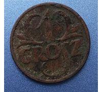 1 грош 1927 Польша Редкий