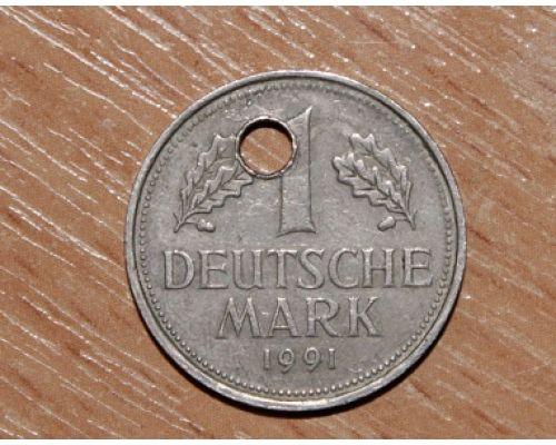 1 марка 1991 год. Германия.