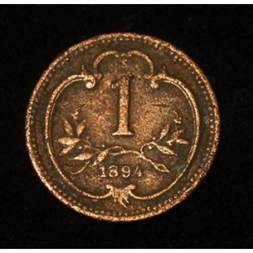 1 геллер 1894 года. Австрия (2)
