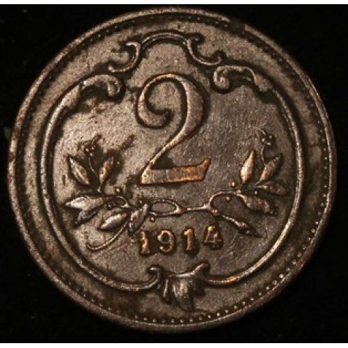 2 геллера 1914 года. Австрия (2)