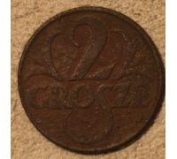 2 гроша 1923. Польша. Редкая
