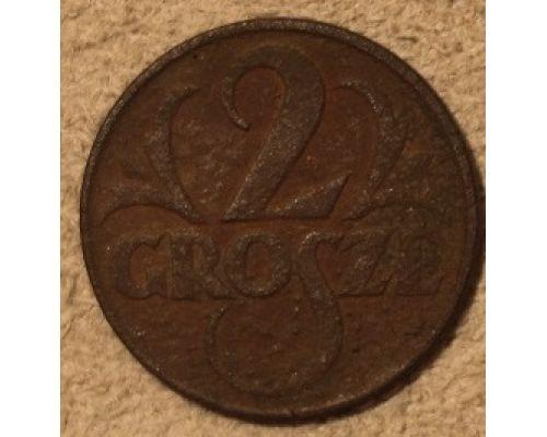 2 гроша 1923 Польша Редкая