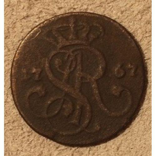1 грош 1767 год. Польша (3)