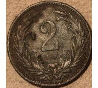 2 филлера 1896 год Венгрия