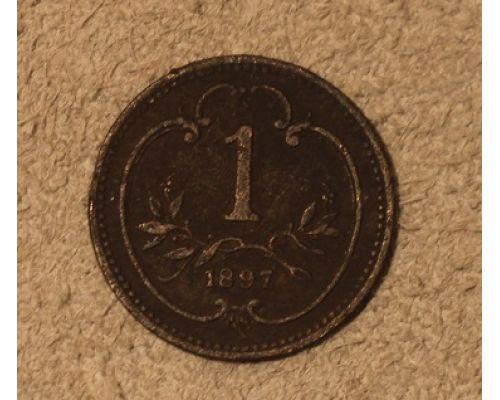 1 геллер 1897 года Австрия Редкий