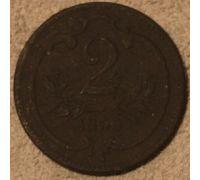 2 геллера 1899 года Австрия (2)