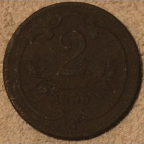 2 геллера 1899 года. Австрия (2)