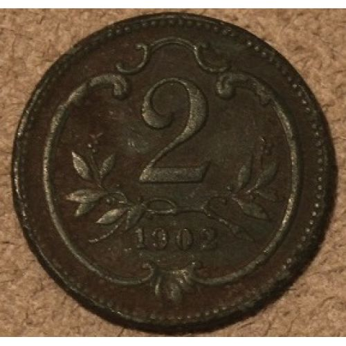 2 геллера 1902 года. Австрия