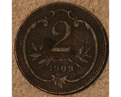2 геллера 1909 года Австрия (2)
