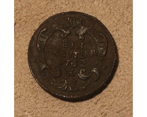 1 крейцер 1762 года К Австрия (2)