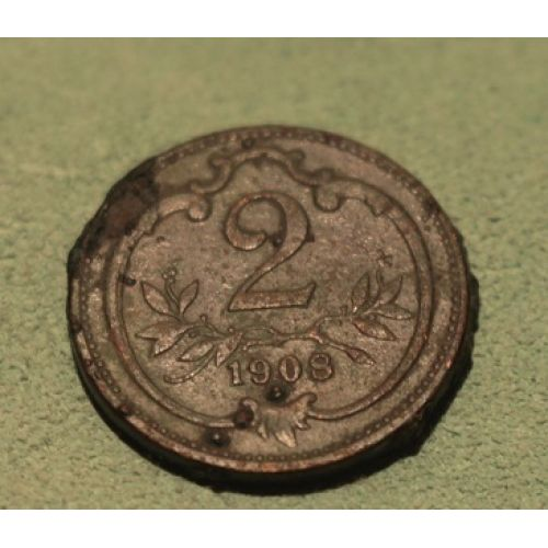 2 геллера 1908 года. Австрия (2)