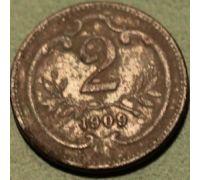 2 геллера 1909 года Австрия (3)