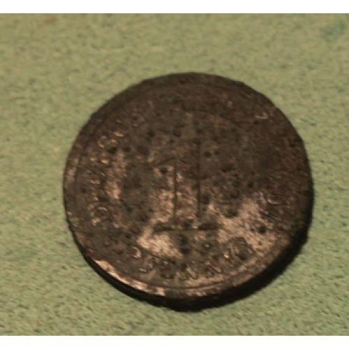 1 пфенниг 1907 год. Германия. (Германская Империя)
