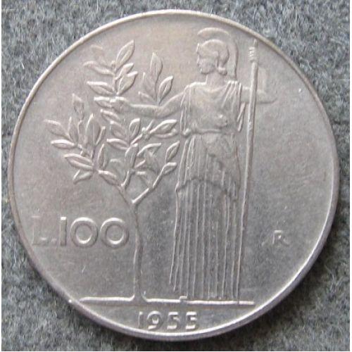 100 лир (1955–1989 г.) Италия