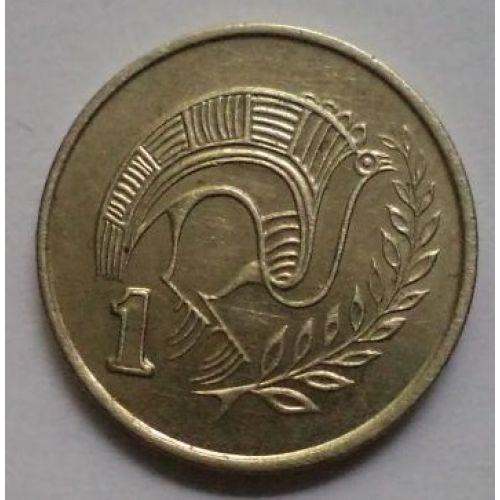 1 цент 1983-1990 год. Кипр