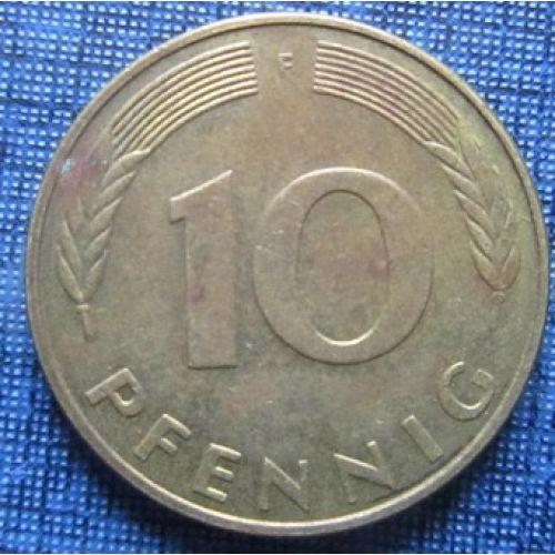 10 пфеннигов (1951–2001 г.) Германия. ФРГ