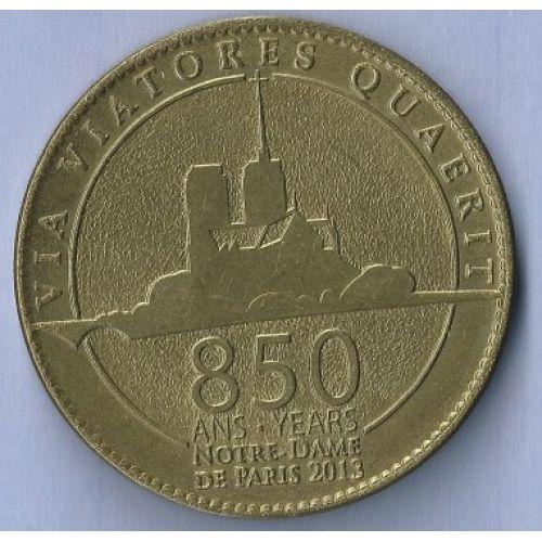 Жетон 850 лет Нотр Дам Де Пари Франция
