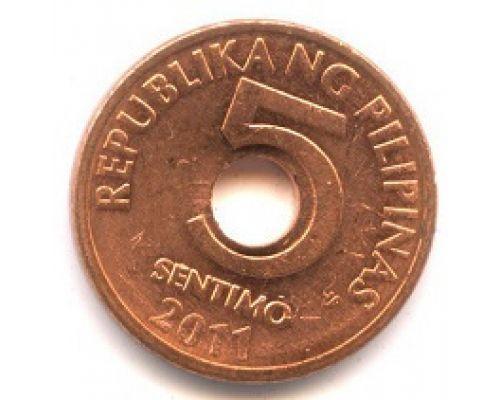 5 сентимо 2011 год Филиппины