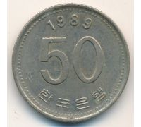 50 вон 1989 год Южная Корея