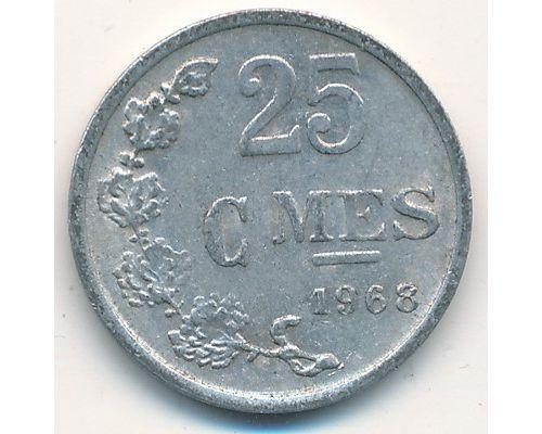 25 сантим 1968 год Люксембург