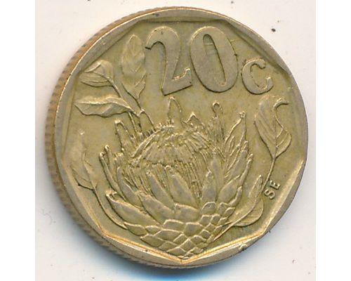 20 центов 1992 год ЮАР Протея