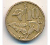 10 центов 1991 год ЮАР Зантедеския